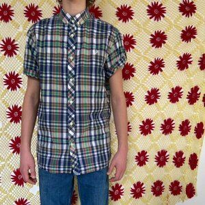 Awesome Fred perry plaid skater polo